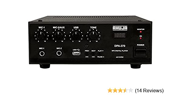 b738eb56407a8 AHUJA DPA-370 30 Watts PA Amplifier with Built-in Player: Amazon.in:  Musical Instruments