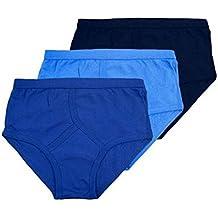 6 Mens Gents 5 STAR 100% Cotton Y Fronts Briefs Blue or White M L XL 2XL 3XL 4XL 5XL