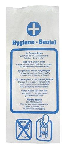 1000 Hygienebeutel aus Papier, Hygienebags für Tampons, Damenhygiene Beutel, Papier-Hygienebeutel, 12 x 4 x 28 cm