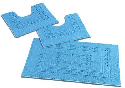 torino set 3 tappeti bagno in spugna cm 60x90 2
