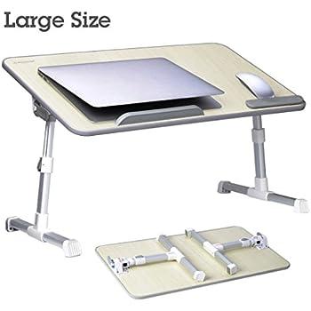 large size avantree adjustable laptop bed table portable standing desk foldable sofa
