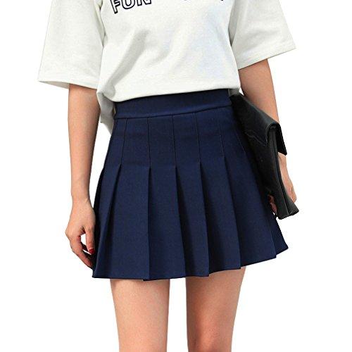 en kurze hohe Taille gefaltete Skater Tennis Schule Rock (Kostüm-schule)
