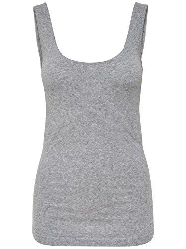 MAMALICIOUS Damen MLNEW HEAL Cotton Tank Top, Grau (Medium Grey Melange), Large (Herstellergröße: L/XL) -