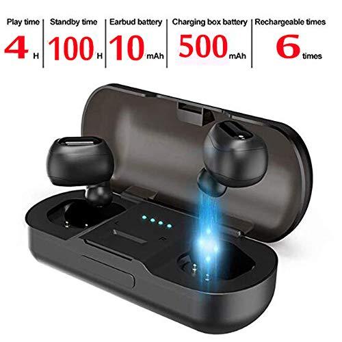 Auricolari wireless Bluetooth 5.0 Stereo Hi-Fi Sound Microfono incorporato  MIC Sport Cuffie senza fili 9c55d6bbc5b0