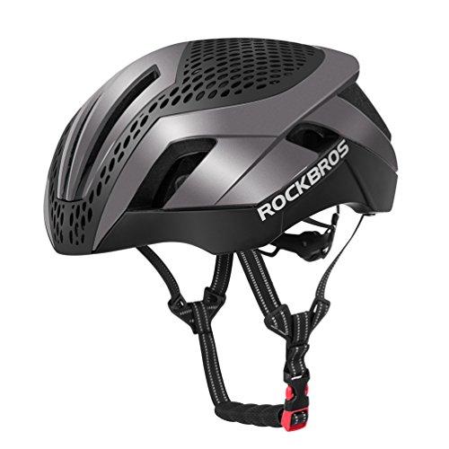 RockBros Fahrradhelm Radhelm Integriert EPS/PC mit 26 Belütungsöffnungen 57-62cm Ultraleicht Stoßfest mit 2 Abnehmbaren Ersetzbaren Dekeln