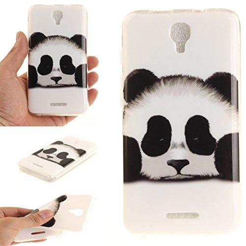 """case cover para Alcatel Pixi 4 3G 5010D (5""""),Crisant panda adorable Diseño Protección suave TPU Gel silicona Teléfono Celular Back funda Carcasa para Alcatel Pixi 4 3G 5010D (5"""")"""