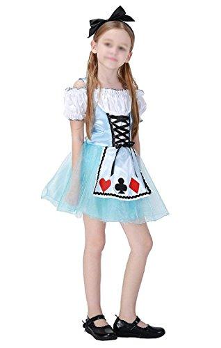 KeySmart Kinder Kostüm Alice's Adventures in Wonderland Kleid für Mädchen Größe: 100