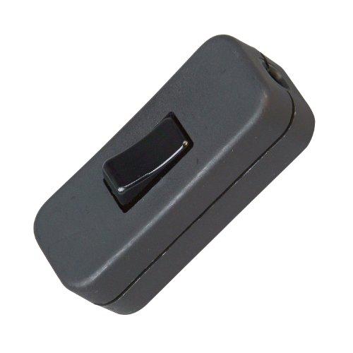Kopp 191305087 Schnurzwischenschalter, 1-polig, 250 V, 2 A, schwarz