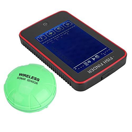 Drahtlose Fish Finder Sonar Sensor Tragbare Sonar Fishfinder LCD-Display Tiefenmesser zum Angeln Eisfischen Kajakfischen Tragbaren Sonar-fishfinder