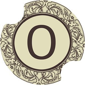 Set of Two Monogram O Carster Car Coasters by Carster Carsters Set