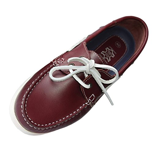 Beverley Originals Herren Leder Bootsschuh Mens Casual Sailor dunkelrot
