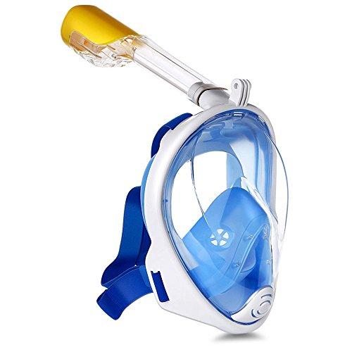 LXQGR Masque De Plongée Complet pour Les Adolescents Masque De Plongée Révolutionnaire À Séchage Complet avec Technologie Anti-Buée Et Anti-Fuite,Blue