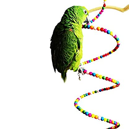 Keersi Colourful Rotate Ladder Toy for Bird Parrot Budgie Parakeet Cockatiel Conure Lovebird Finch Canary Cockatoo African Grey Amazon Cage Perch Stand 5
