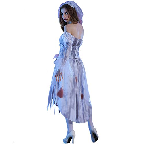 tfleck Braut Dress Up Spiel Kostüm Horror Braut Blutige Braut Party Masquerade Cosplay Kostüm,M ()