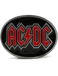 Tanside ACDC hebilla de cinturón de hebilla de cinturón. Pesada. Negro & Rojo (BB014AC 1)