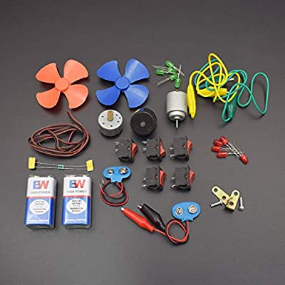 REES52 Electronics 30 Items Loose Parts Materials Science Project Kit