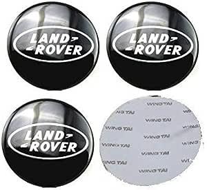 13 Autosupply 4 X 65 Mm 6 3 Cm Land Rover Black Logo Felgendeckel Aufkleber Emblem Badge Radnabenkappen Mittelabdeckung Für Range Land Rover Discovery Sport Velar Evoke Auto