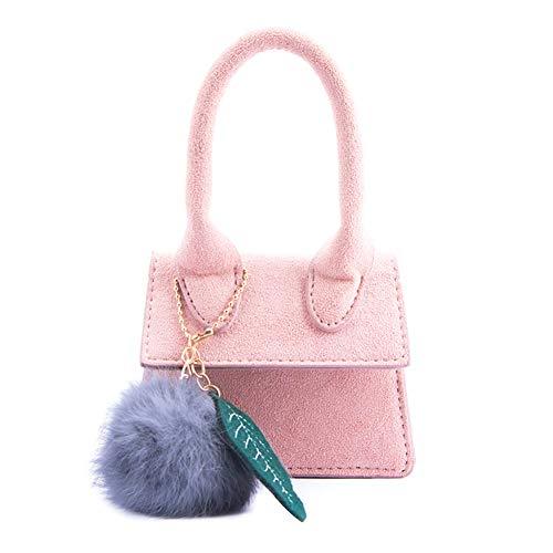 Fablcrew Mini-Handtasche Kinder Umhängetasche geeignet für Mädchen 2-8 Jahre alte tragbare Schutttasche(Rosa) -