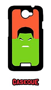 Caseque Brux Hulk Back Shell Case Cover for HTC One X