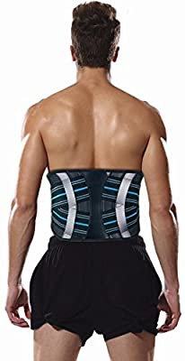 Bonmedico® Virto, the breathable back brace with boning to relieve the lumbar vertebrae, with 2 straps for optimum compression, protection and treatment of back pain and stabilisation of the spine at work or during sports, for men and women