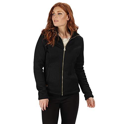 Regatta Raizel Damen Fleece, gestrickt, hoher Flor, Durchgehender Reißverschluss XX-Small Black(Black) Gold Xx Bonded Fleece