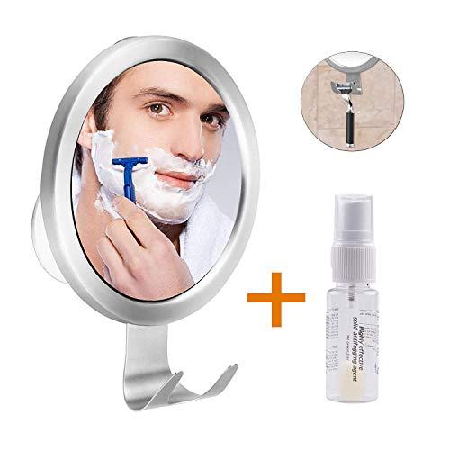 Ulinek Spiegel Dusche Antibeschlag Rasierspiegel Duschspiegel Einstellbarer Wandspiegel mit starkem Saugknopf Badspiegel Schminkspiegel für Badezimmer Duschen usw