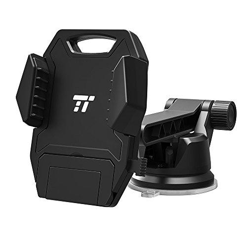 Supporto auto Tao tronics del telefono in auto universale fino a 13cm portata comodamente con una sola mano, Braccio Girevole di 180°, Super Adesive e abwaschbarer ventosa