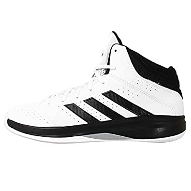 adidas Men's Isolation 2 White, Cherry Black and Metallic Silver Basketball Shoes - 7 UK