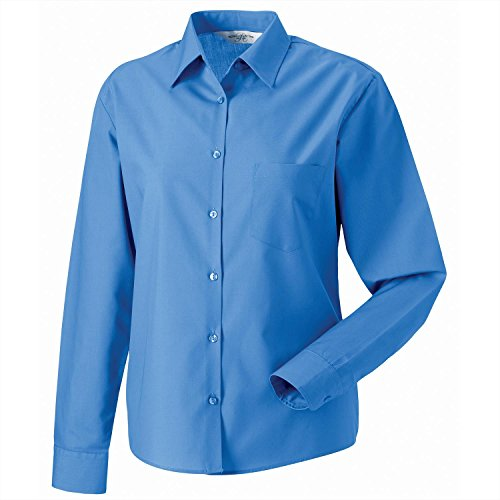 Russell Collection Damen Bluse Blau - Corporate Blue