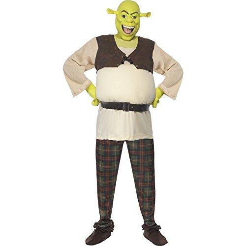 Smiffys Herren Kostüm Oger Shrek Karneval Fasching Größe L (Herren Shrek Kostüm)