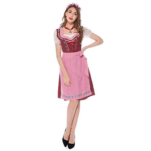 Kostüm Tipps Kellnerin - Miss Y Halloween Kellnerin Dienstmädchen Kostüm Cosplay Spiel Drama Beer Festival Dress Up Kostüm,XL