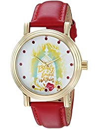 Disney Women's 'Beauty' Quartz Metal Casual Watch Color:Red (Model: WDS000311)