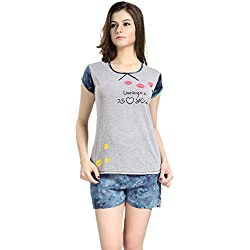 AV2 Women Cotton Top & Shorts Nightwear / Loungewear Set