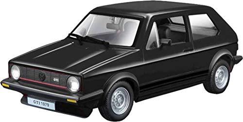Bburago - Maqueta de Volkswagen Golf Mk1 GTI (1979, Escala 1:24), Color Negro