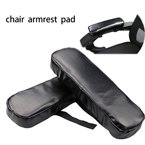 Hfour Stuhl Armlehne Pad/Büro-Und Spiel Sessel Armlehne Deckt Speicherschaum PU Leder/Elbow Schmerzlinderung (1 Paar) - Deckt Stuhl Leder