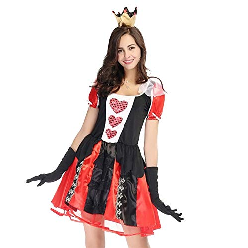Kostüm Assassin's Creed Black 2 - Aiserkly Damen Sexy Anzug Halloween Cosplay Karneval Abendkleid Swing Dress Mittelalter Halloween Party Kostüm Gothic Kleidung Rot 2XL