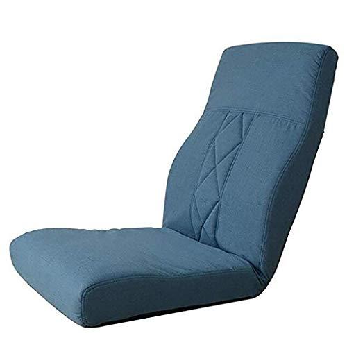 JFFFFWI Boden Stuhl Freizeit Sofa Stuhl Einzel rückenlehne japanischen Stil klapp faul Couch Stuhl Schlafzimmer Boden (Farbe: A) -