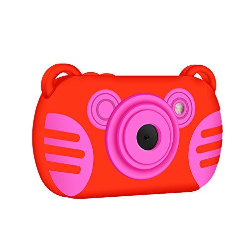 LS-SKY Cámara Digital para niños Recargable a Prueba de Agua 1080P HD, Monitor LCD a Color de 2,7 Pulgadas, Zoom Digital 8X, Adecuado para niños y niñas (Rojo)