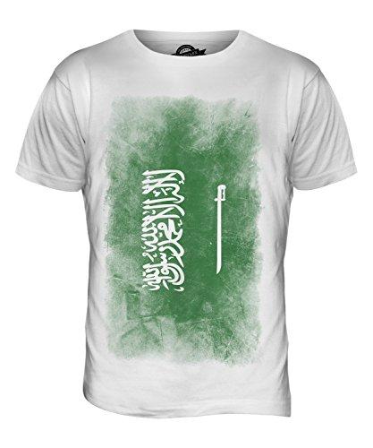 CandyMix Saudi-Arabien Verblichen Flagge Herren T Shirt Weiß