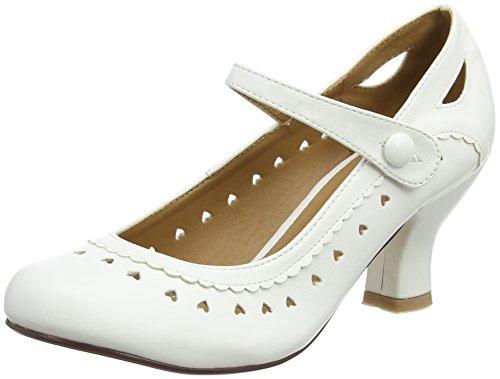 Damen Herzmuster Mary Jane Mittlerer Absatz Feinmachen Pumps Schuhe Größe 39 6 vHWKLLuxQ