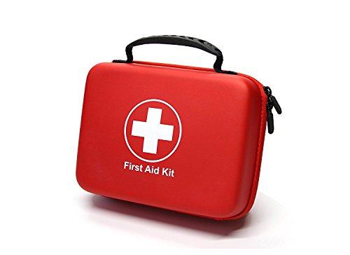 Kompaktes Erste-Hilfe-Set (228 Stück) Entwickelt für Familien-Notfälle. Wasserdichte EVA Case & Bag ist ideal für das Auto, Haus, Boot, Schule, Camping, Wandern, Reisen, Büro, Sport, Jagd. Beschütze deine Lieben