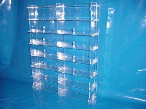 Setzkasten für Brillen aus Acrylglas SL011 Rückwand Transparent