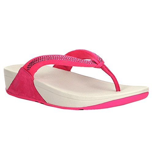 FitFlop Womens Crystal Swirl Textile Sandals Bubblegum