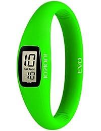 IO?ION! E-GRF26-II - Reloj digital de cuarzo unisex con correa de silicona, color verde