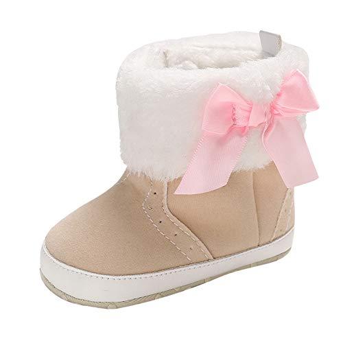 ❤️ Botas para la Nieve niñas Nudos de Piel, Baby Girl Boy Girl Botines Suaves Borlas Botas para la Nieve Calzado para niños pequeños Absolute