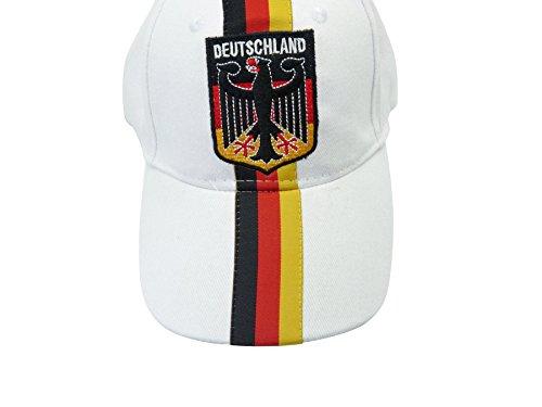 Cap, Baseball Cap Deutschland, BRD weiss Ralley (Baseball-kappen Hut Fußball-kappe)