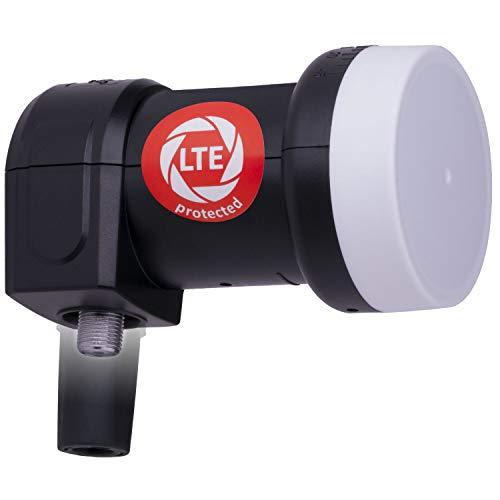 DUR-line +Ultra Single LNB - 1 Teilnehmer schwarz - mit LTE-Filter [ Test SEHR GUT ] 1-Fach, digital, Full HD, 4K, 3D, Sieger - Premium-Qualität