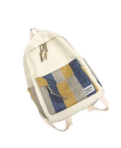 SUXT Laptoprucksack Mode Computer Rucksack Casual Rucksack Student Rucksack Mädchen Tasche weiblich Student Reisen/Damen/Mädchen Gr. 42, weiß