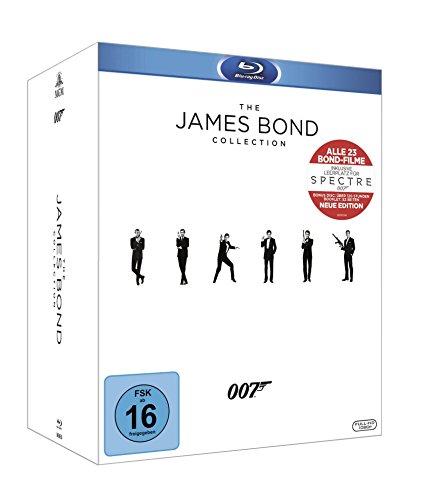 The James Bond Collection: Alle 23 Filme inkl. Leerplatz für Spectre (24 Discs) [Blu-ray]
