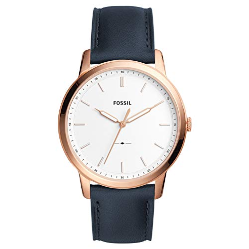 Fossil Mens Analogue Quartz Watch with Leather Strap FS5371